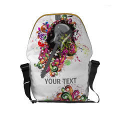 Personalized Colorful Retro Music Guitar Bag at Zazzle