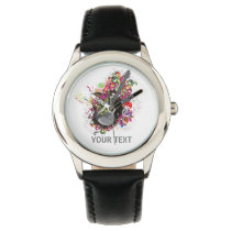 Personalized Colorful retro music guitar watch