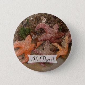 Personalized Colorful Starfish/Sea Star Photo 4 Pinback Button