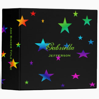 Personalized: Colorful Stars Binder