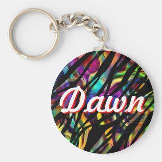 Personalized Colorful Zebra Design Keychain