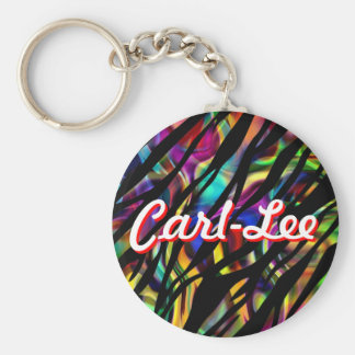 Personalized Colorful Zebra Design Keychain