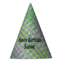 Personalized Colorful Zigzag Pattern Party Hat