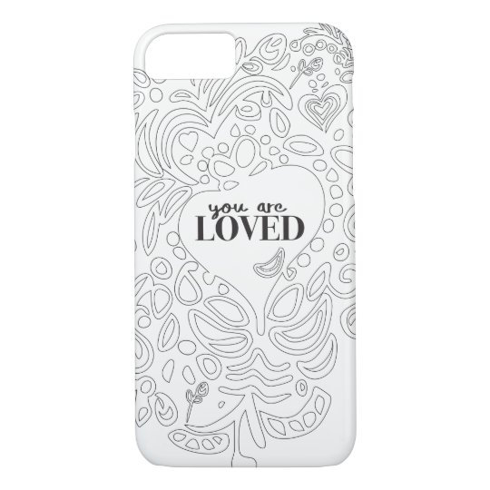 Personalized Coloring Page Inspired You Are Loved Case Mate Iphone