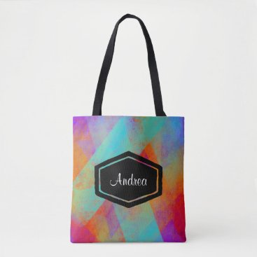 Beach Themed Personalized colourful painted tote bag