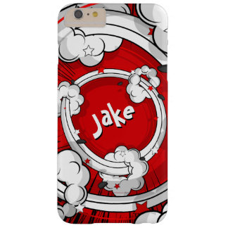 Personalized Comic Book Explosions Geek Barely There iPhone 6 Plus Case