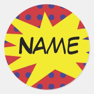 Personalized Comic Sticker