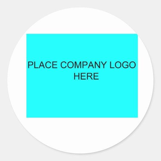 Personalized Company Logo Classic Round Sticker