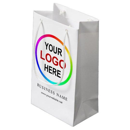 sc 1 st  Zazzle & Personalized company logo small gift bag | Zazzle.com