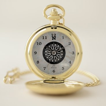 Personalized Compass - Look Pocket Watch