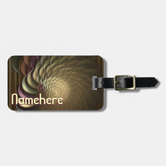 Personalized Conch Abstract Art Luggage Tag
