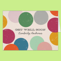 Personalized | Confetti Get Well Soon Card