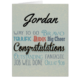 Personalized Congratulations Greeting Card