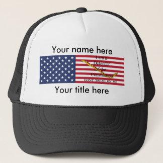 "Personalized ""Constitution Defender"" ballcap Trucker Hat"