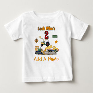 Personalized Construction 2nd Birthday T-shirt