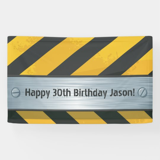 Personalized Construction Birthday Banner