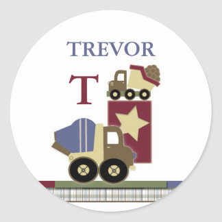 Personalized Construction Name Sticker