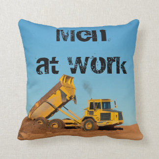 Personalized Construction Site Throw Pillow