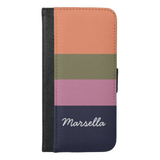 Personalized Contemporary Candy Bar Hoop iPhone 6/6s Plus Wallet Case