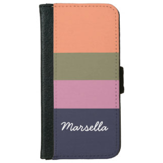 Personalized Contemporary Candy Bar Hoop iPhone 6/6s Wallet Case