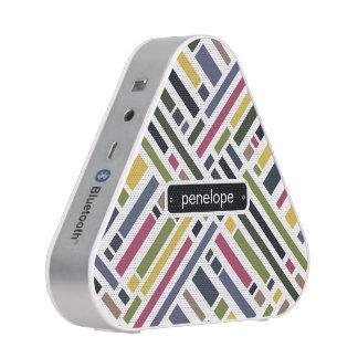 Personalized contemporary colour block pattern speaker