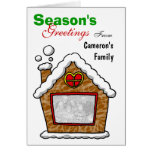 Personalized cookie house Christmas Greeting Cards