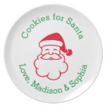 Personalized Cookie Plate for Santa's Cookies