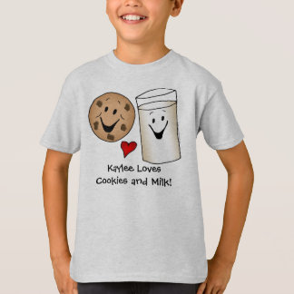 Personalized Cookies and Milk T-shirt