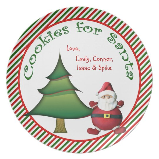 Personalized Cookies For Santa Christmas Plate