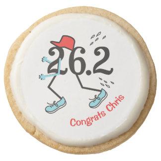 Personalized Cookies Funny Marathon Runner 26.2 Round Premium Shortbread Cookie