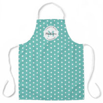Personalized Cooking Vintage Teal Apron