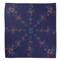 personalized cool bicycles in circles bandana