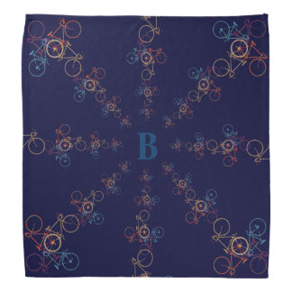 personalized cool bicycles in circles bandanas