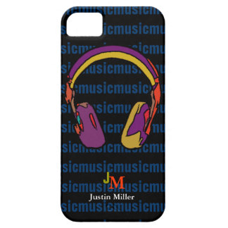 personalized cool dj headphone iPhone 5 covers