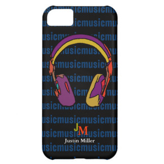personalized cool dj headphone case for iPhone 5C