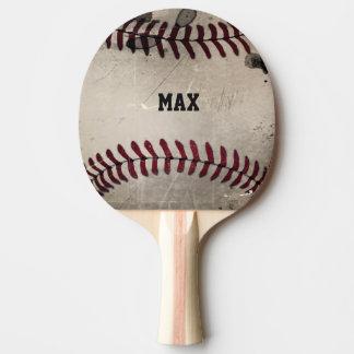 Personalized Cool Grunge Baseball Ping Pong Paddle