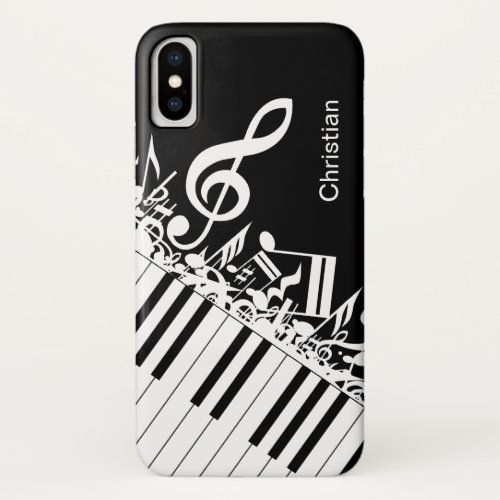 Personalized cool Musical Notes and Piano Keys Phone Case
