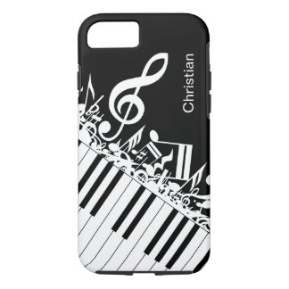 Personalized cool Musical Notes and Piano Keys iPhone 8/7 Case