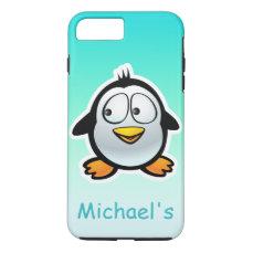 Personalized Cool Penguin Cartoon iPhone 8 Plus/7 Plus Case