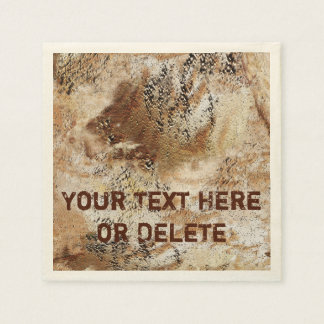 Personalized Cool Rustic Paper Napkins