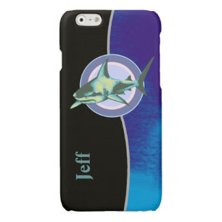 personalized cool shark glossy iPhone 6 case