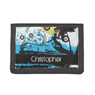 Personalized Cool Surfing Beach Surfer Wallet