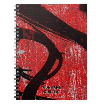 Personalized Cool Urban Red Graffiti Notebook