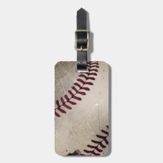 Personalized Cool Vintage Grunge Baseball Luggage Tag