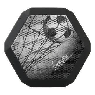 Personalized Cool Vintage Grunge Football in Goal Black Bluetooth Speaker
