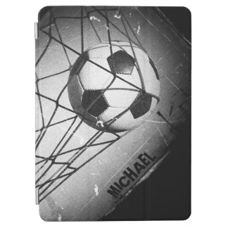 Personalized Cool Vintage Grunge Football in Goal iPad Air Cover