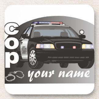 Personalized Cop Beverage Coaster