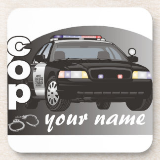 Personalized Cop Coasters