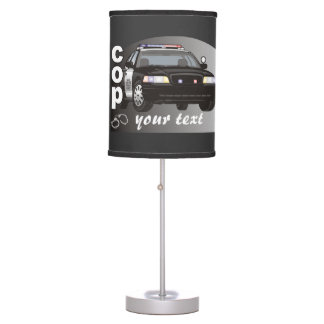 Personalized Cop Lamps