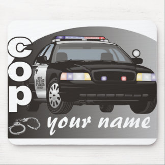 Personalized Cop Mouse Pad
